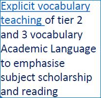Explicit vocab