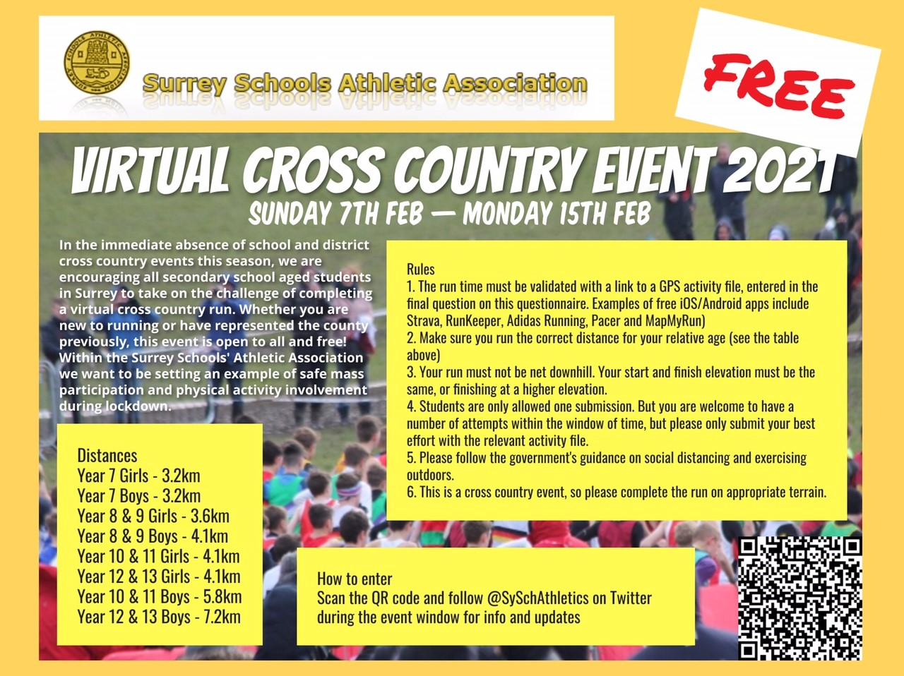 SSAA Virtual Cross Country Event Flyer