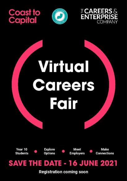 Coast to Capital Virtual Careers Fair Friday 16 June
