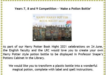 Years 7, 8 and 9 Competition